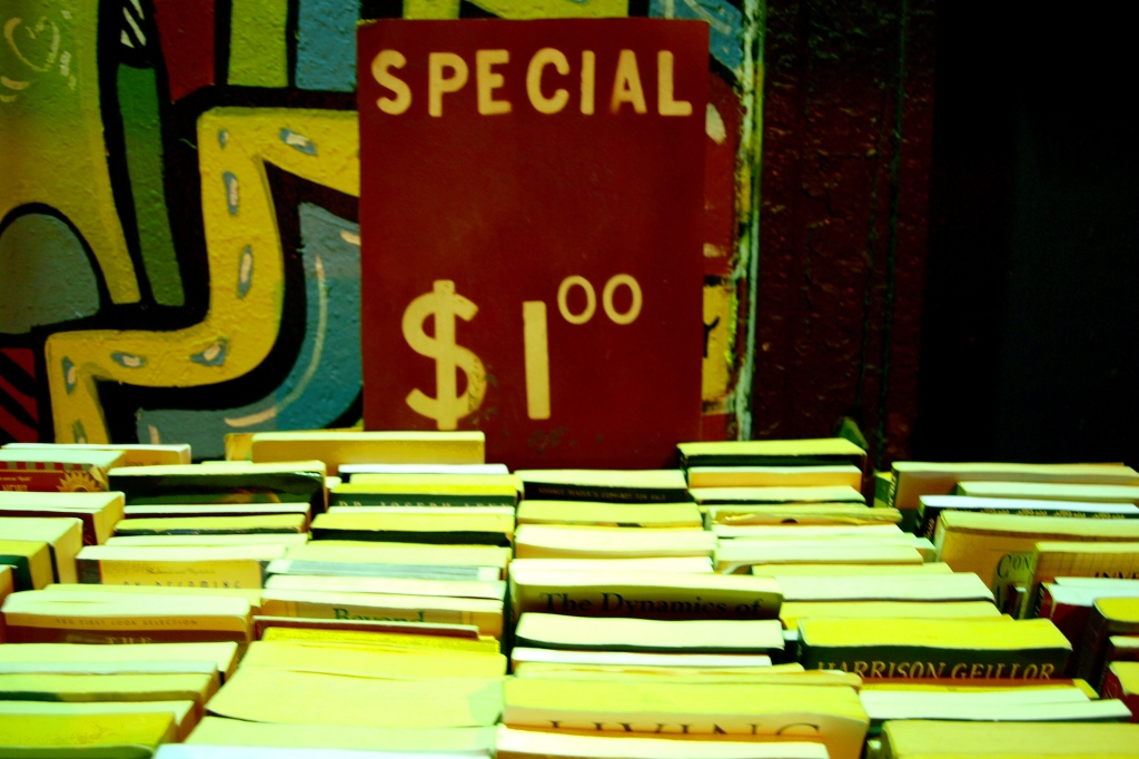 One dollar books at the Strand Bookstore