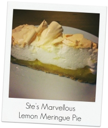 Ste's lemon meringue pie