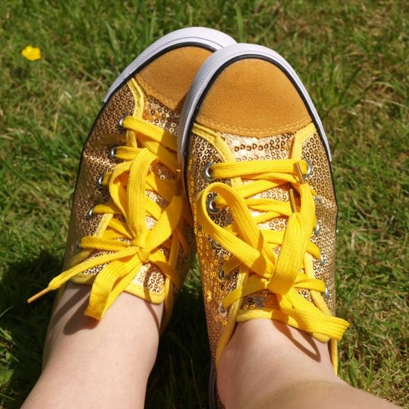 sparkly sunshine shoes
