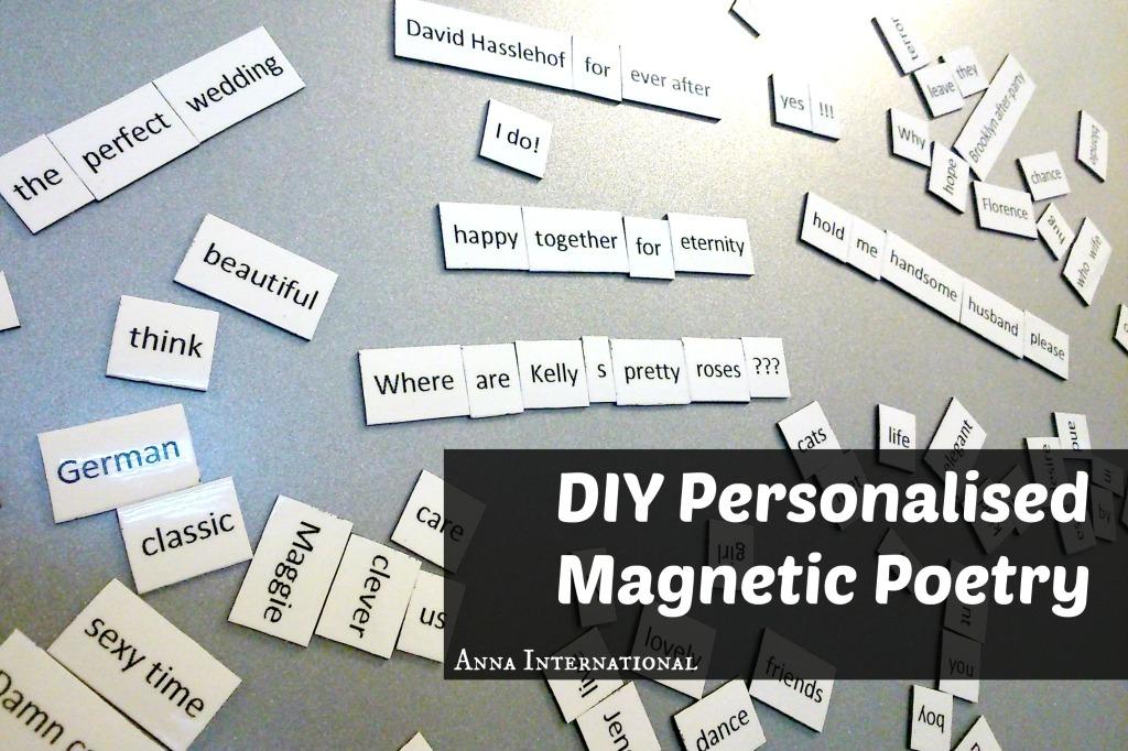DIY Personalised Magnetic Poetry | Anna International