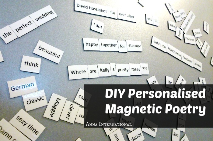 DIY Personalised Magnetic Poetry | Anna International