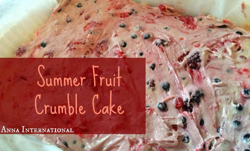 Summer Fruit Crumble Cake | Anna International